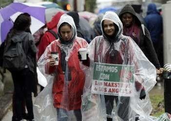 Grève des enseignants à Los Angeles janvier 2019