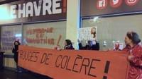Le Havre le samedi 29 février 2020 : manifestation devant le local de campagne d'Edouard Philippe /