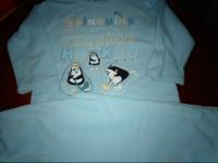 pyjama polaire bleu ciel 4ans 2€ vetbb petitga