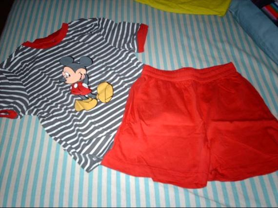 pyjashort mickey 4ans malandre