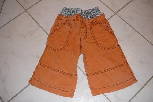 -pantacourt-orange-4ans 1€ vet bb et petitga