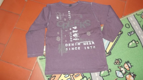 52- polo violet 5ans 2€