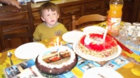 4 ans de maxime  et c' est aussi l' anniversaire de papi !