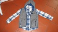 6- ensemble gilet polaire et chemise en pilou 3/5ans 4€50
