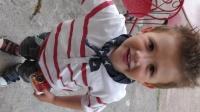 déguisé en clown pour le spectacle de juin 2012