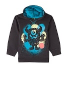 sweat molleton capuche print monstres 6ans orchestra