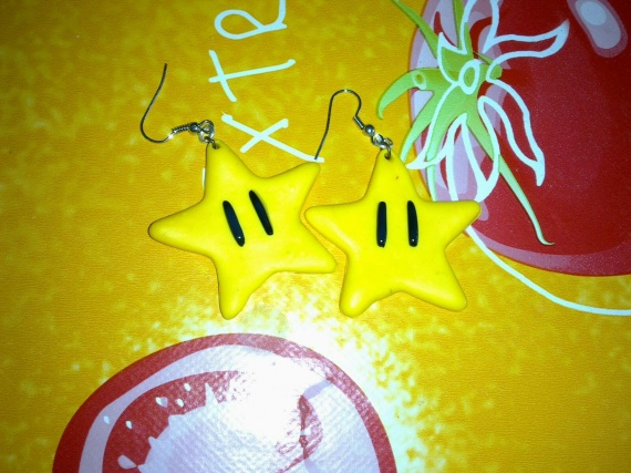 Boucles d'oreilles étoiles Mario