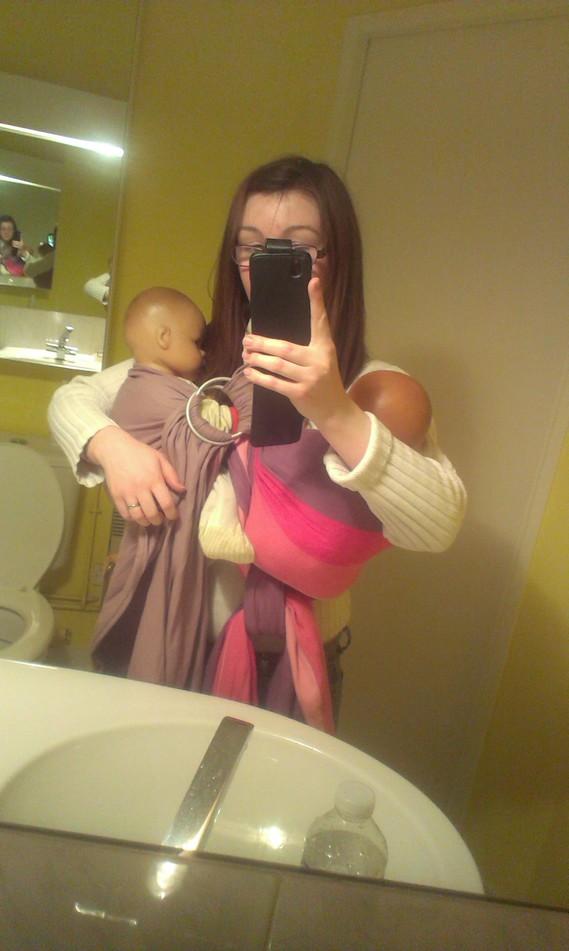 Hanche à boucle + sling avec jumeaux