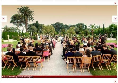 mariage jardins a la francaise - Villa Ephrussi De Rothschild Mariage