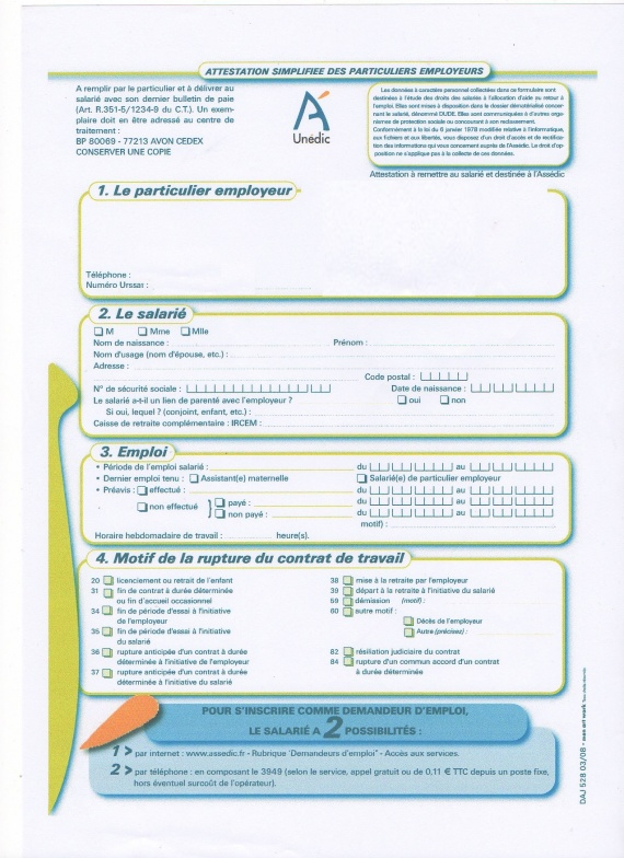 attestation employeur pajemploi