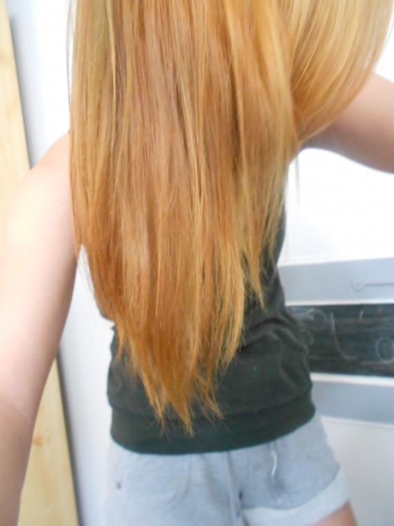 Tapes afin de revenir a un ch tain clair blond fonc - Blond cuivre dore ...