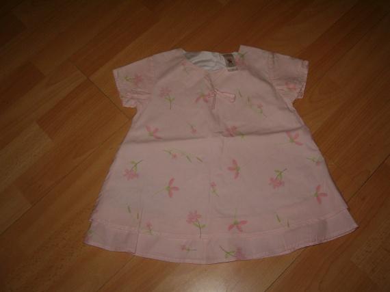 robe à fleur rose 12 mois