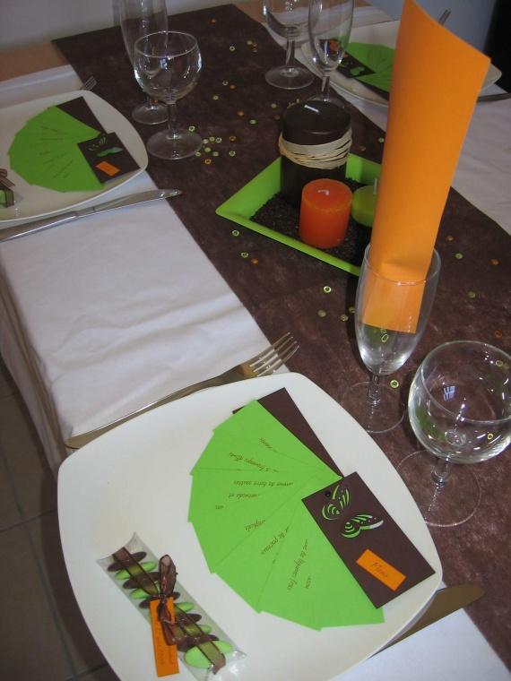 Table marron zoom