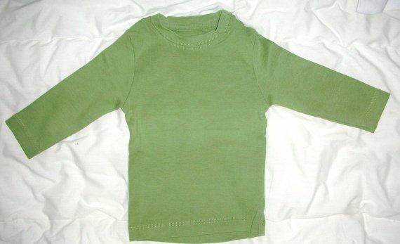 t-shirt ML uni vert 1€ (noté 12 mois mais en taille plutot 9)