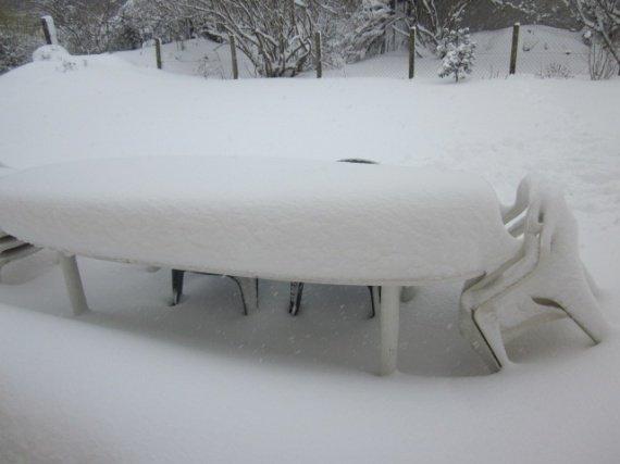 notre table de jardin