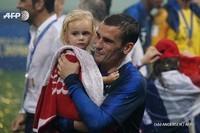 Antoine Greizmann et sa fille