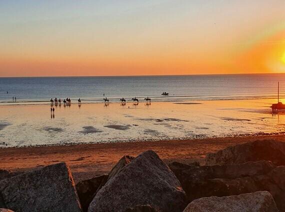 photo prise sur la plage de notre commune