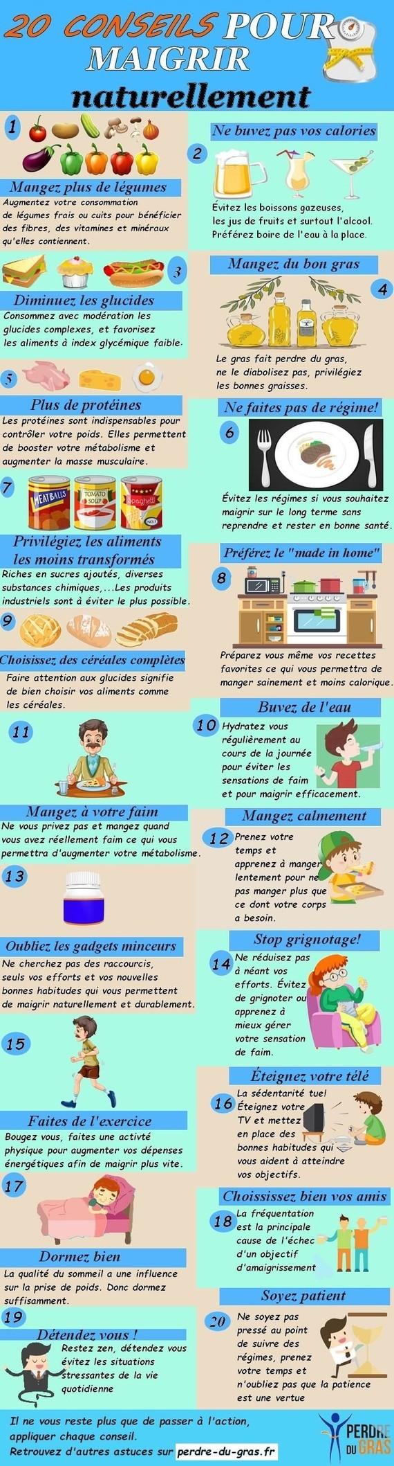 20 conseils pour maigrir (infographie)-