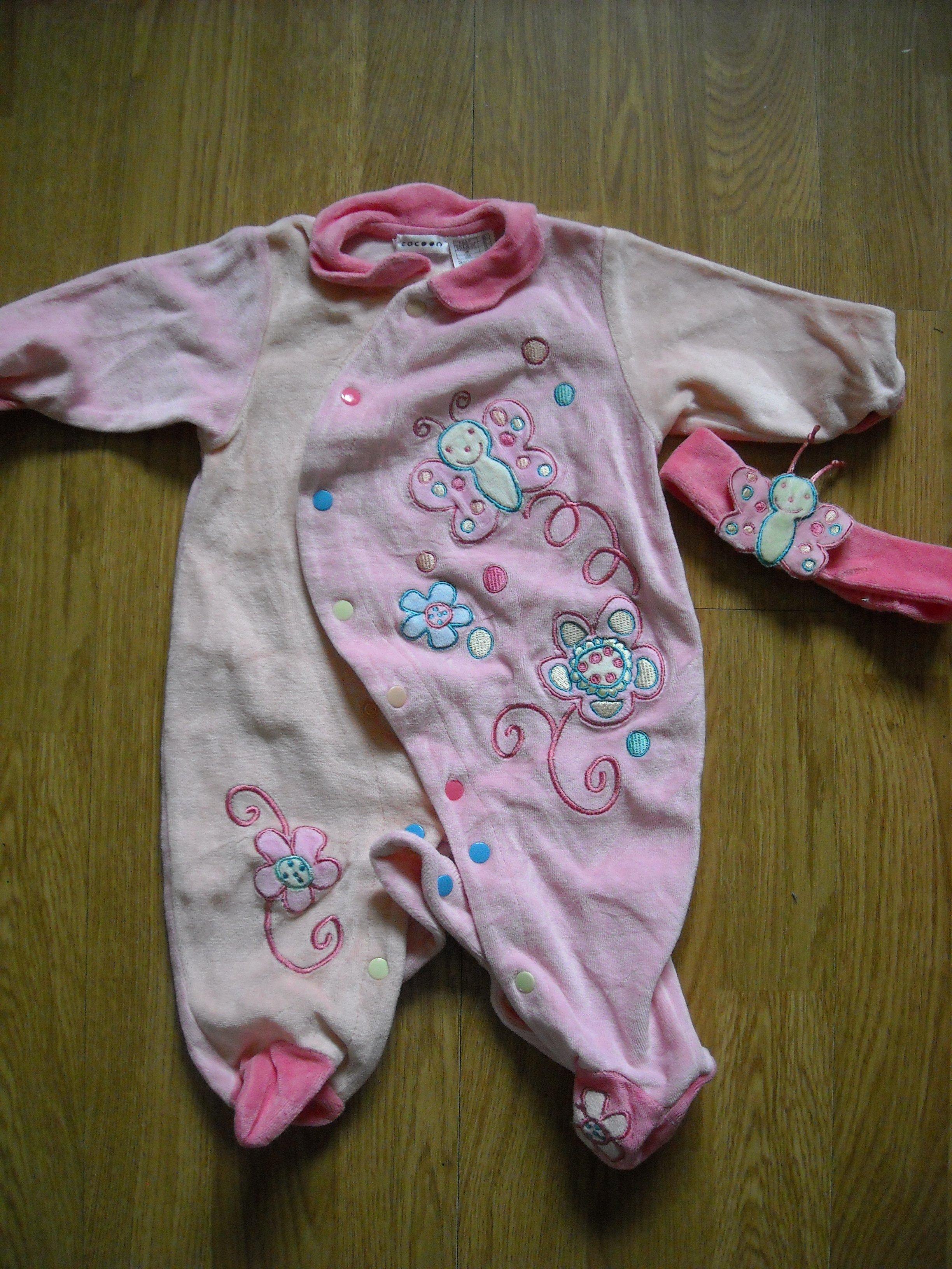 pyjama bebe avec son bandeau en mois cocooon vetements fille 3 mois theolou62 photos. Black Bedroom Furniture Sets. Home Design Ideas