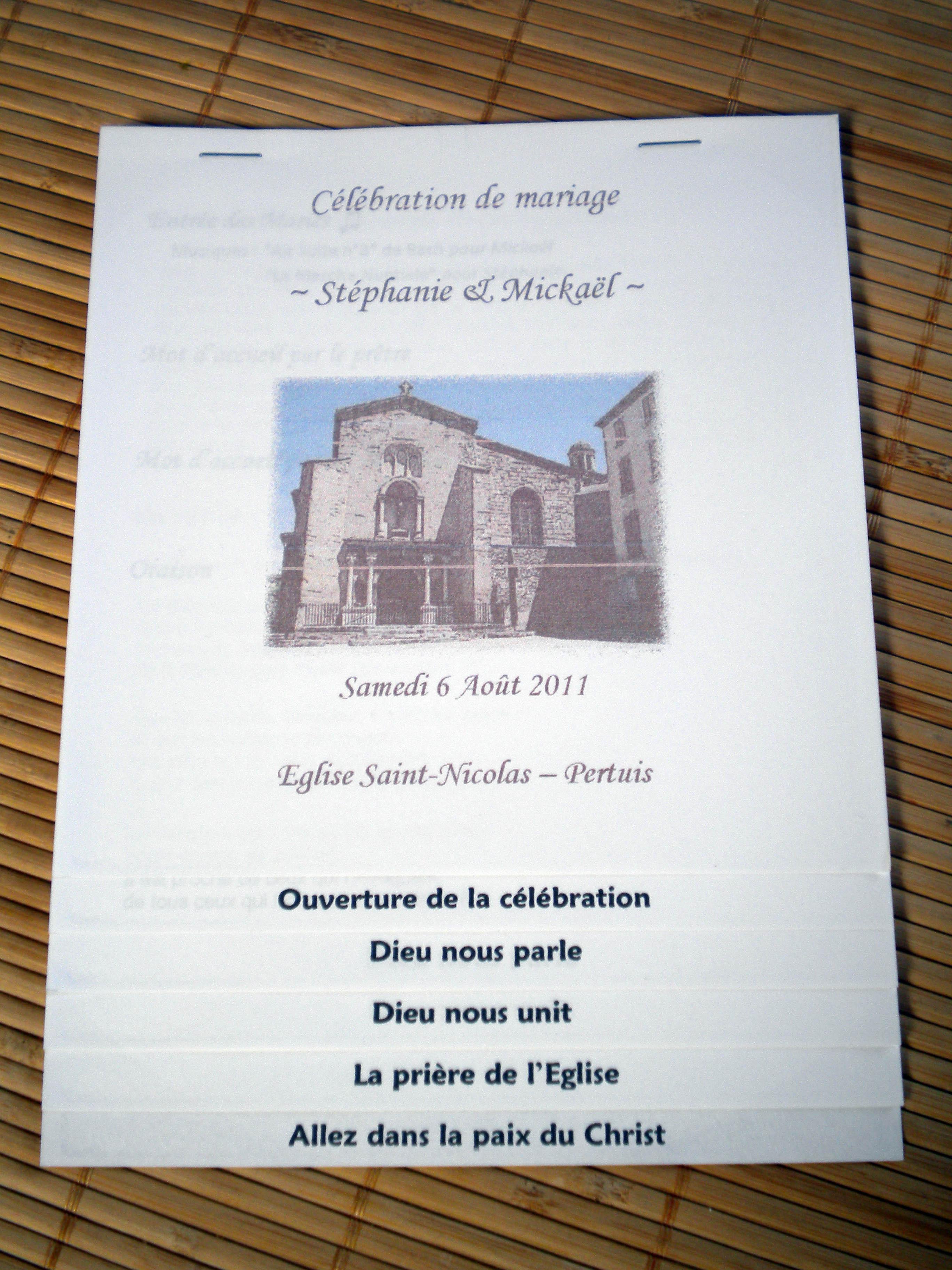 livret de messe essai - Exemple Livret De Messe Mariage