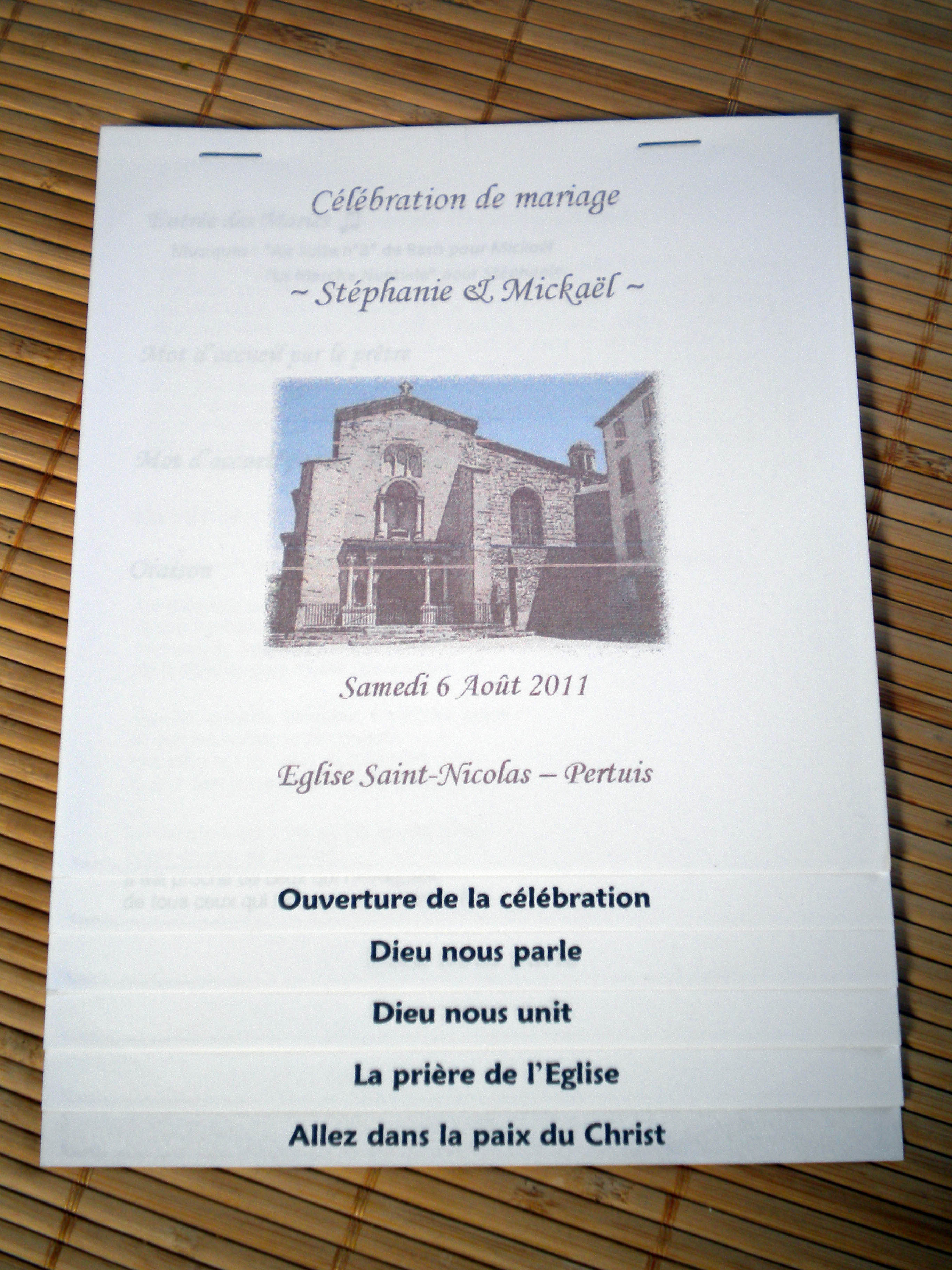 livret de messe essai - Exemple De Livret De Messe Mariage