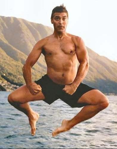 george_clooney_swimming_mid_air_jump
