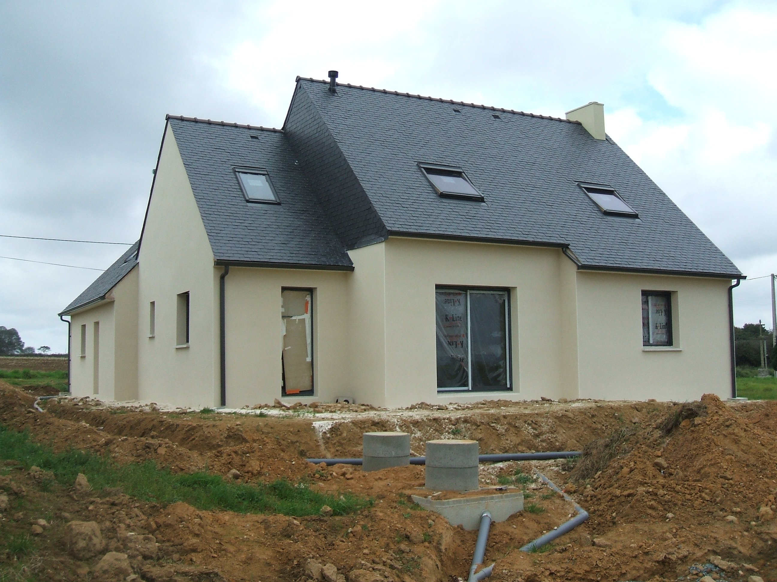 Enduit fini notre maison en construction for Application plan construction maison