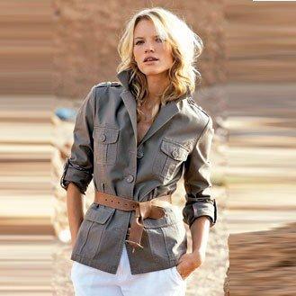 exemple veste style saharienne