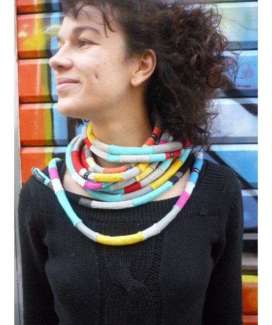 exemple collier tissus