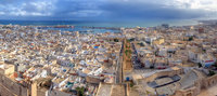Aerial-view-on-medina-in-Sousse