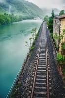 Lac de chemin de fer-Les Alpes-Suisse