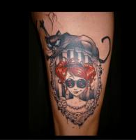 Dessins tatouages que j 39 aime jo 39 belly photos page 1 club doctissimo - Tatouage chat alice au pays des merveilles ...