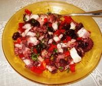 Salade de poulpes à la méditéranéene