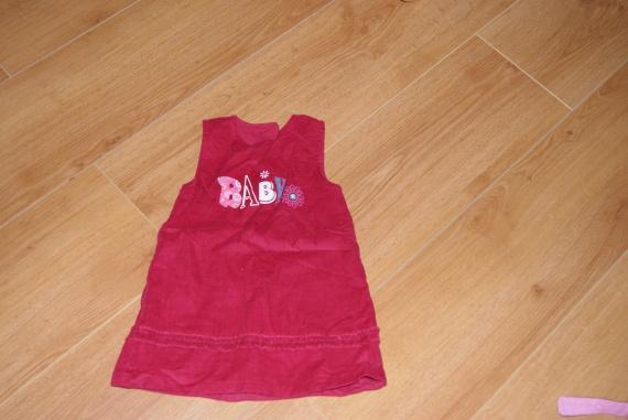 robe velours 12mois,3e