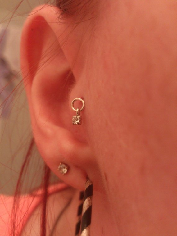 Piercing tragus bijoux anneau