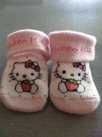 Chaussettes hello Kitty - 0/3 mois - 1 €