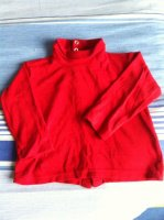 Sous pull rouge 23 mois - 0,50 cts