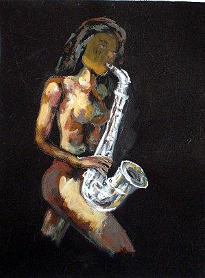 Jeune fille au saxophone