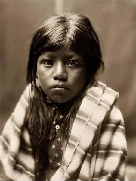 Ah Chee Lo, a young indian child-1905 by Edward S.Curtis