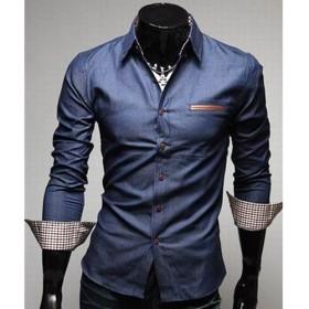 chemise-men-fashion-denim-design-class-slim fit-bleu-jean-fonce-280x280