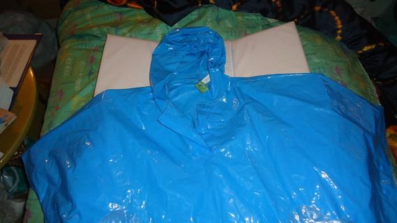 DSC00157 cape plastique bleu mickey-minnie