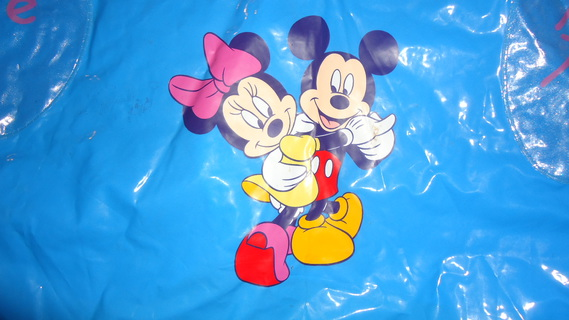 DSC00154 cape plastique bleu mickey-minnie