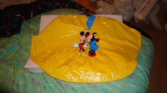 DSC00161 cape plastique jaune mickey-minnie