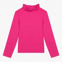 t-shirt-coton-modal-rose-fuchsia