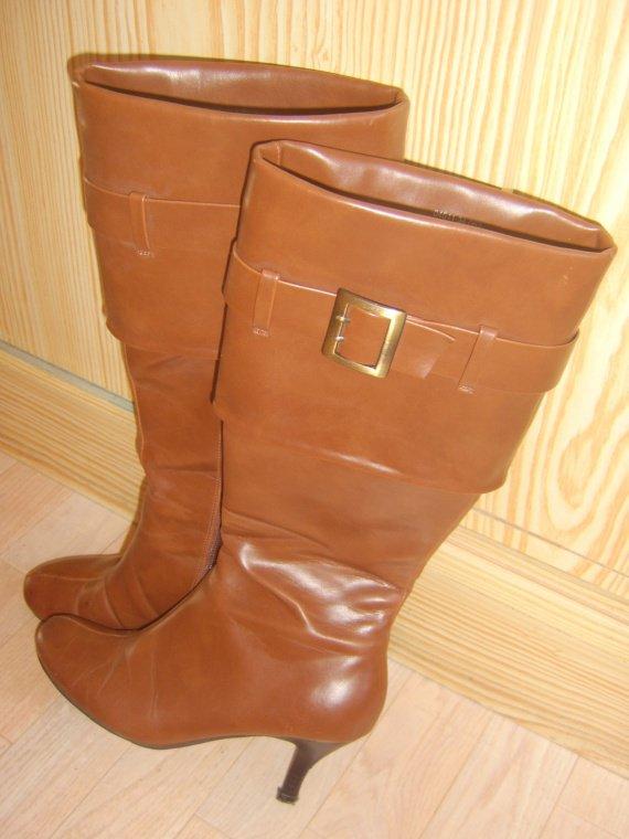 Bottes à talons Halle aux chaussures marron 001