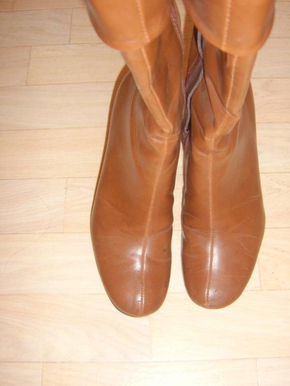 Bottes à talons Halle aux chaussures marron 002