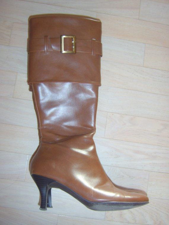 Bottes à talons Halle aux chaussures marron 003