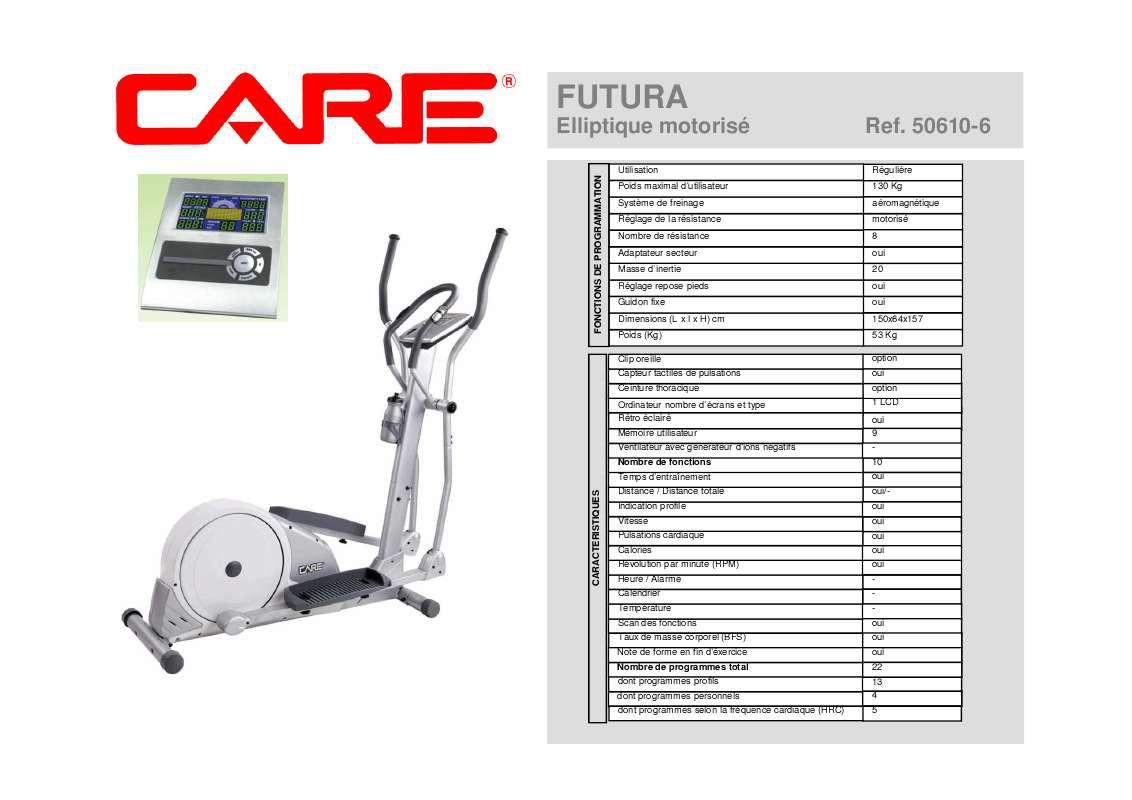 velo elliptique FUTURA CARE 50610-6 - AVIS ACHETEURS ...