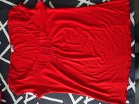 TSHIRT MC rouge IN EXTENSO un peu évasé vers le bas style tunique col rond TTBE 38/40 6€