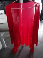 veste longue légère évasé rouge fluide taille L 38/40 TTBE 8€